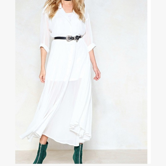 Nasty gal love shirts maxi dress
